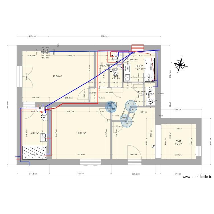 Plomberie  Plan 30 pices 256 m2 dessin par scalpub
