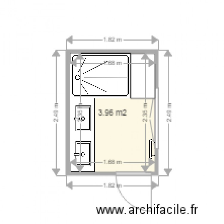 Plan Salle De Bain 4m2 Salle De Bain 4m2 Plan 1 Pi Ce 4