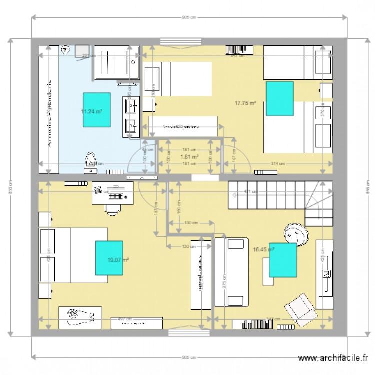 Amenagement Grenier Bayonne 3 Chambres Plan 5 Pices 66