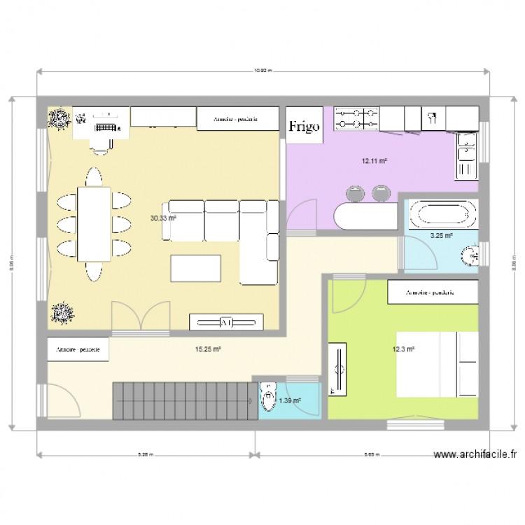 Maison Rdc Plan 6 Pices 75 M2 Dessin Par Phyona
