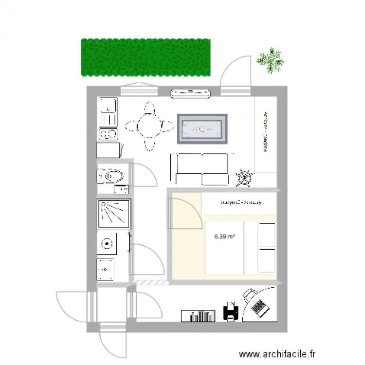 Projet Studio Puricard Plan 1 Pice 6 M2 Dessin Par
