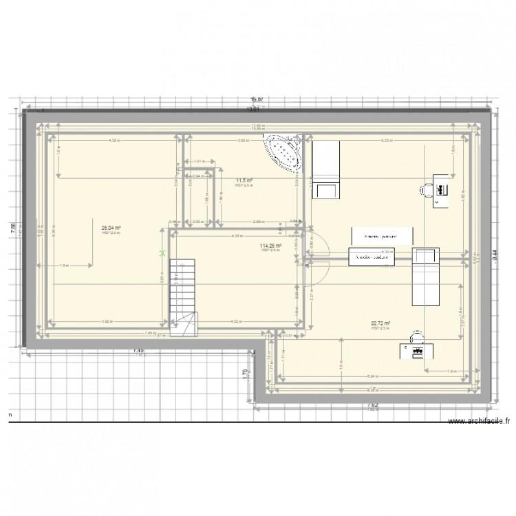 Etage Dadyve4 Plan 4 Pices 175 M2 Dessin Par Jprigoulot