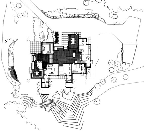 Maison Carré à Bazoches-sur-Guyonne par Alvar Aalto