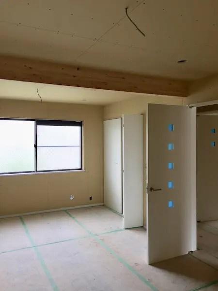 練馬区リフォーム現場の木工事完了写真1