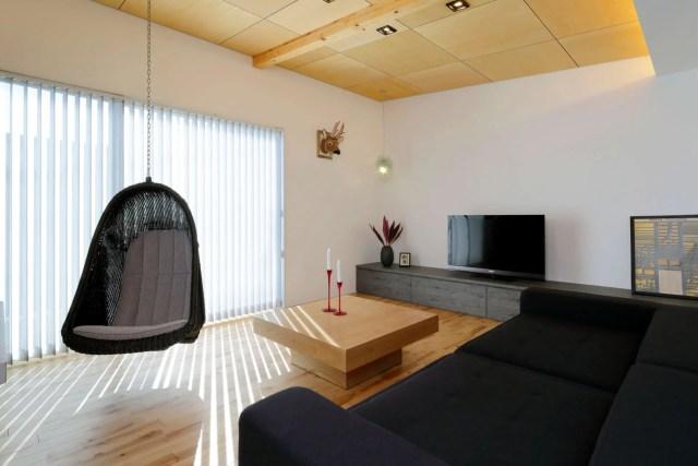 三郷市注文住宅:NO邸のTVボード画像