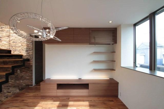武蔵野市注文住宅:NT邸のTVボード画像