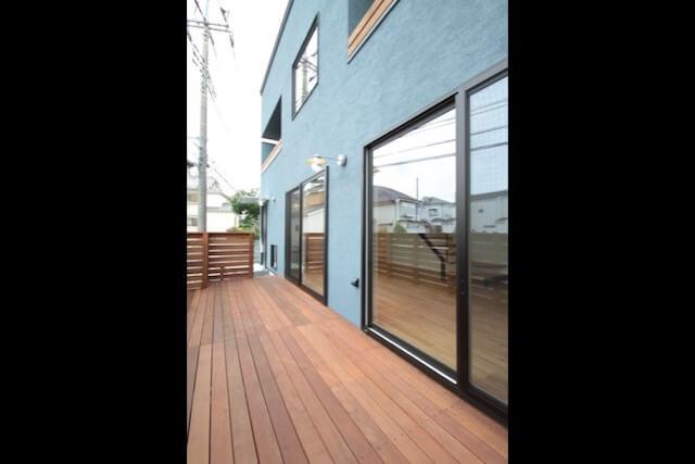 No.118 所沢市注文住宅|SE構法 M邸事例 ウッドデッキの画像
