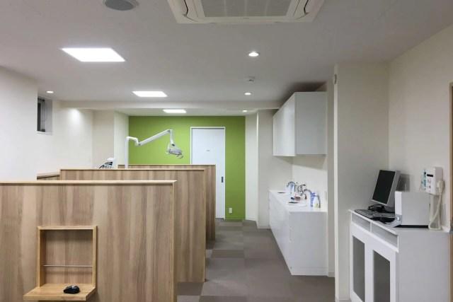 板橋区の歯科医院:ミント歯科のパーテーション画像