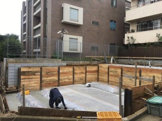 新宿区下落合の注文住宅-矢板工事の画像