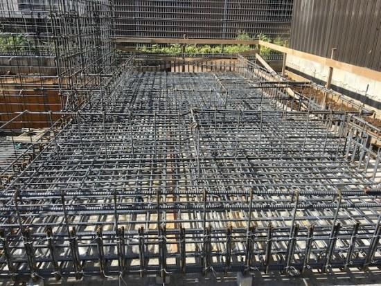 新宿区下落合の注文住宅-鉄筋工事3の画像