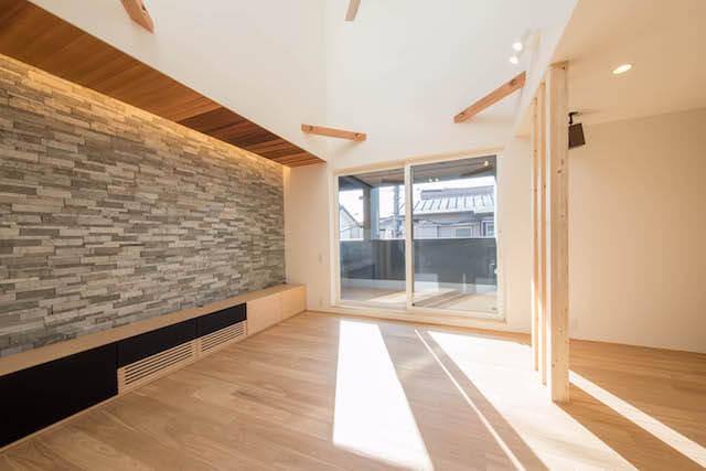 川越市注文住宅:YK邸事例 TVボードの画像