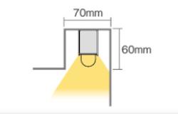 間接照明:灯を下に向けるパターンの画像
