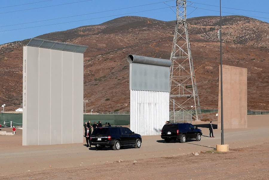 Are USMexico border wall prototypes a work of art