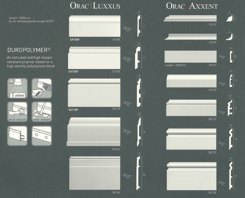 Decor European Synthetic Skirting Boards  Architrave Sydney