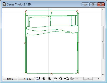 Trasformare un oggetto dwg in oggetto di libreria per for Letto 3d dwg
