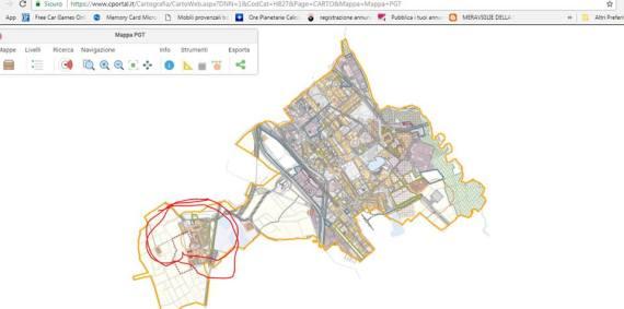Mappa stralcio da c portal san donato milanese