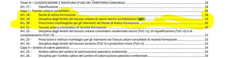 Stralcio documento NTA San Donato Milanese