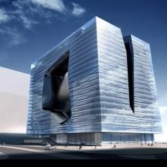 Bay Sofa Flip Flop Opus Office Tower By Zaha Hadid Architects