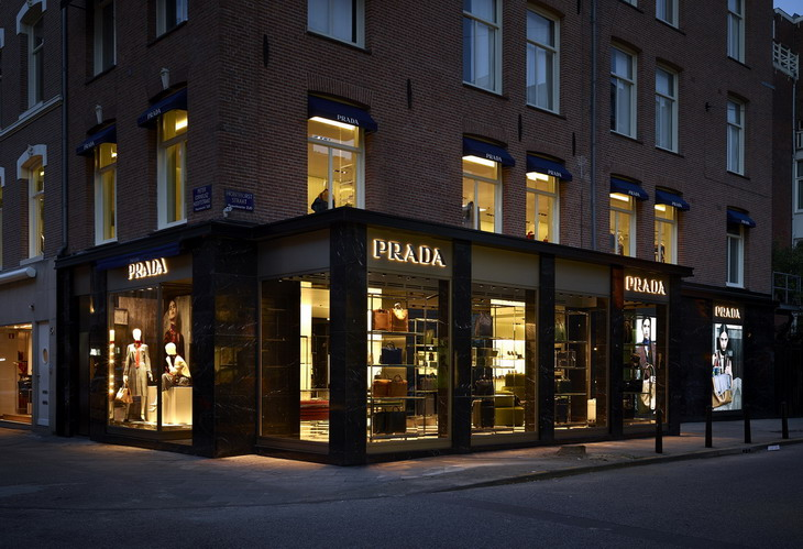 home goods sofa covers microfiber chaise sleeper first prada store in amsterdam by roberto baciocchi