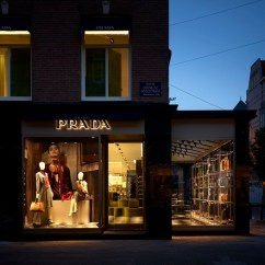 Home Goods Sofa Covers Craftsman Style Futon Bed First Prada Store In Amsterdam By Roberto Baciocchi