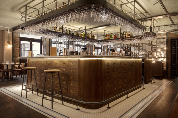 banquette kitchen table delta faucet repair industrial take on an italian restaurant in london by b3 ...