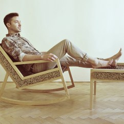 Tree Branch Rocking Chair Purple Side Haluz By Tomas Vacek Archiscene Your Daily