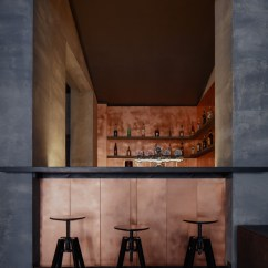 Metal Chairs And Table Rocking Adirondack Plans Copper Bar By Zavoral Architekt - Archiscene Your Daily Architecture & Design Update