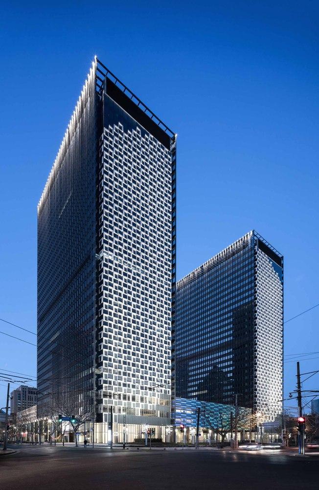 Shanghai Landmark Center by Aedas  Archiscene  Your