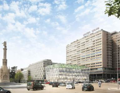 Axis building by Norman Foster in Madrid