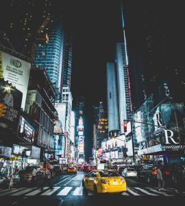 New York city streets according a J1 Visa
