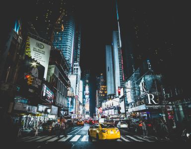 New York city streets according a J1 Visa