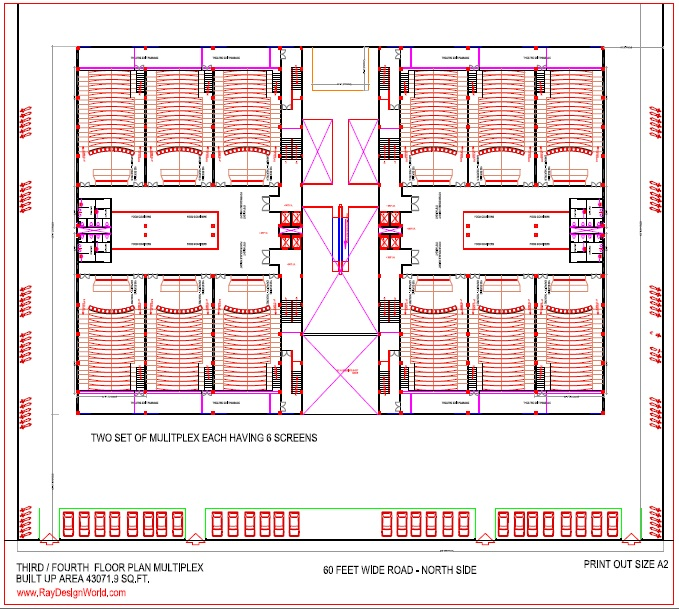 Best multiplex design in 215168 square feet 03 for Multiplex plans