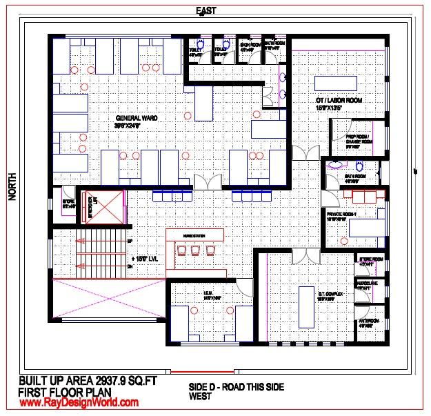 Maternity Hospital Floor Plan: Best Hospital Design In 3960 Square Feet