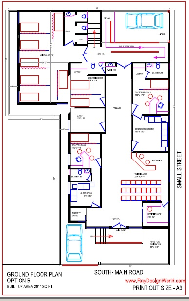 Best Hospital Design in 4590 square feet - 08
