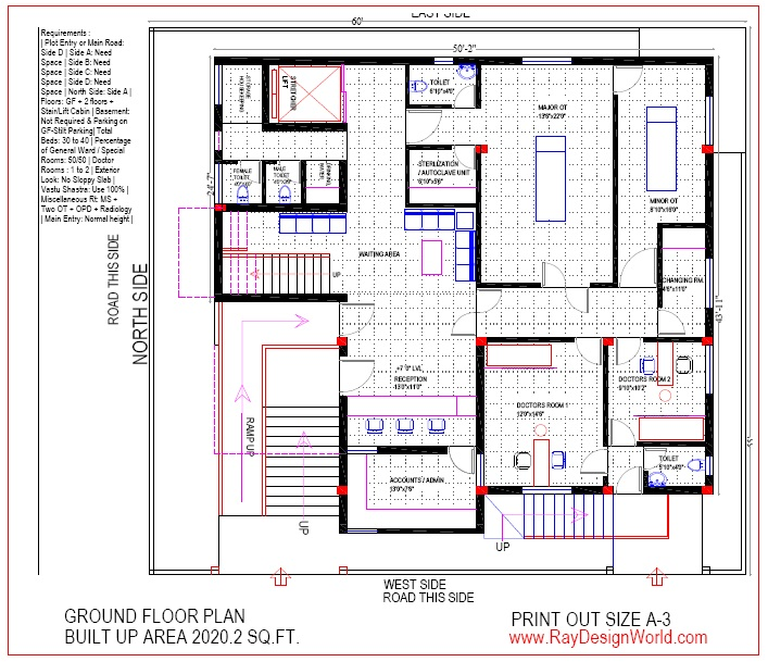Best Hospital Design in 3300 square feet - 09