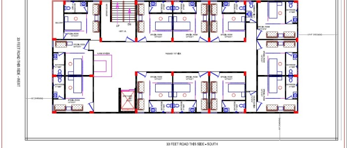 Best Hospital Design in 6960 square feet - 01