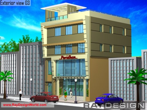 Best Commercial Complex Design in 1188 square feet - 04