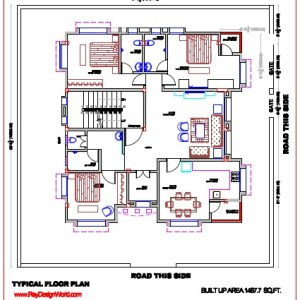 Best Residential Design in 2981 square feet - 56