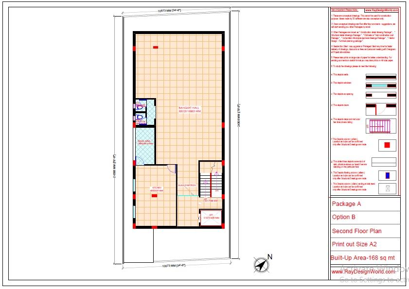 Commercial Complex Design -Second floor plan- Indranagar Lucknow UP - Mr. Abhishek Singh