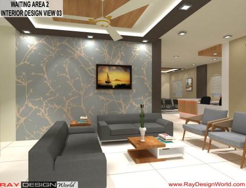 Hospital Waiting Area 2 Interior Design - Shimoga Karnataka - Dr. Rajeev Pandurangi