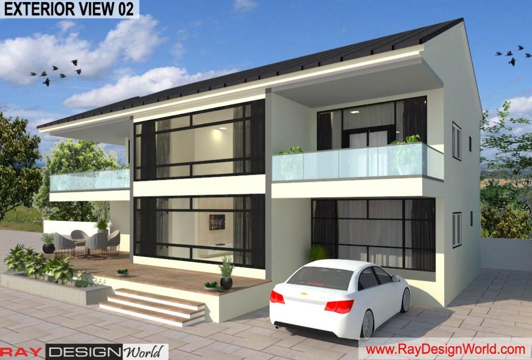 Bungalow Design –Exterior view 02- Mangalore Karnataka – Mr. Austin Dias