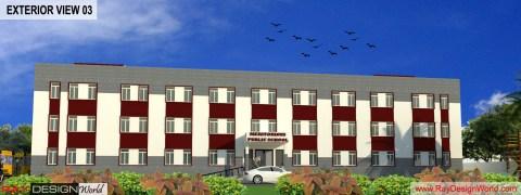 School Design - 3D exterior view 03