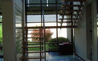 L'OLLIVIER Architecte PONT L'ABBÉ - pavés de verre - escalier ouvert - lumière