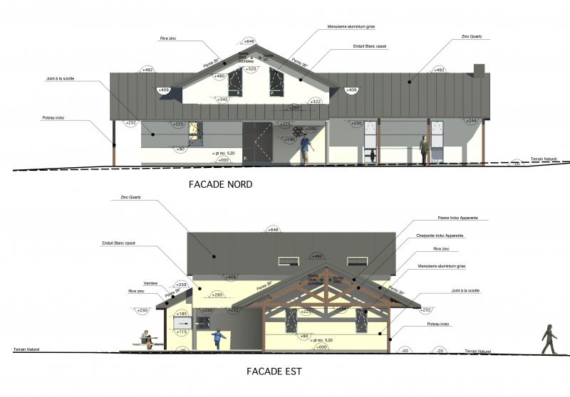 zp 01 maison avec toiture en zinc loctudy architecte l 39 ollivier pont l 39 abb. Black Bedroom Furniture Sets. Home Design Ideas