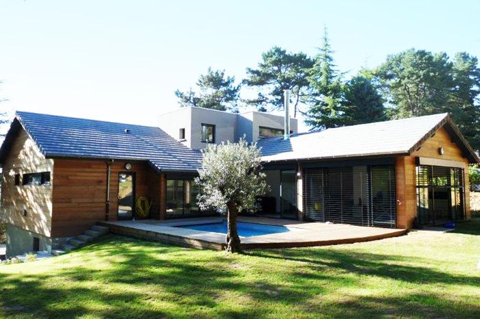 Plan Maison Ossature Bois Gratuit. Elegant Uu Maison Bois Dans Le