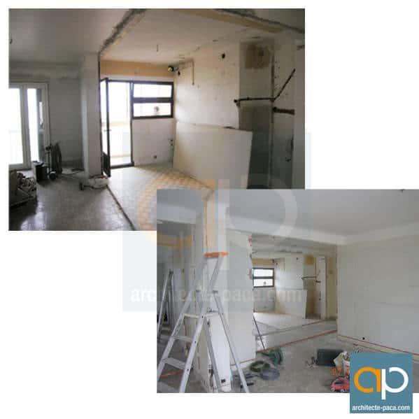 R novation compl te et design d 39 un appartement marseille for Appartement design marseille