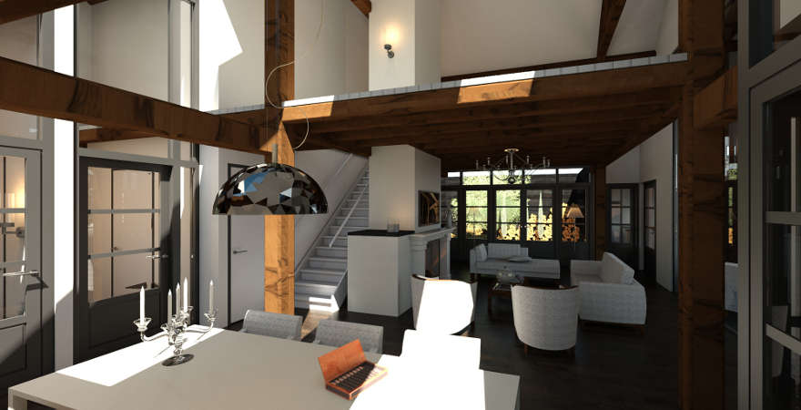 Ontwerp exterieur en interieur woonboerderij