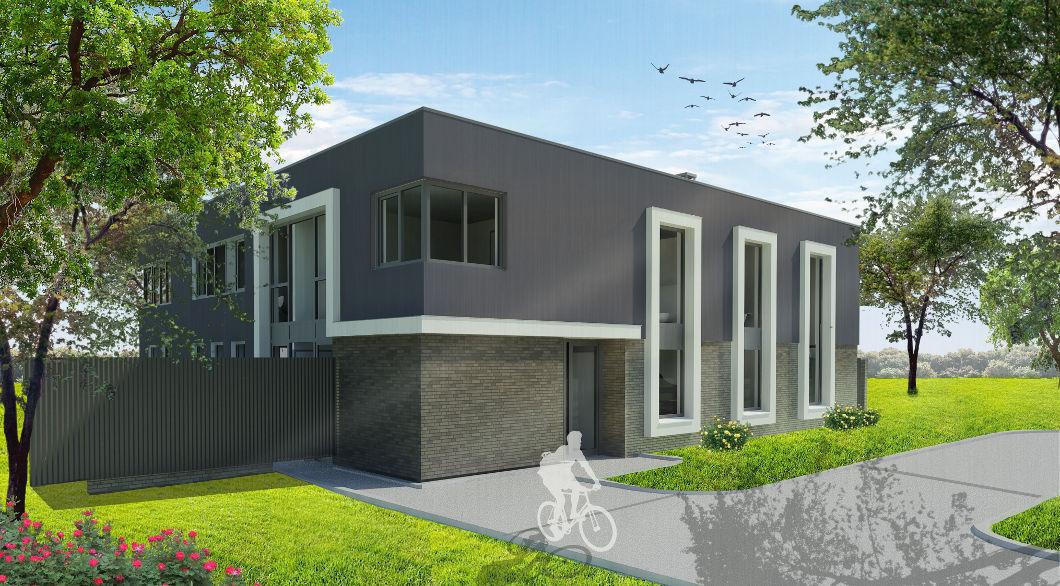 Moderne villa veel glas en sfeervolle veranda