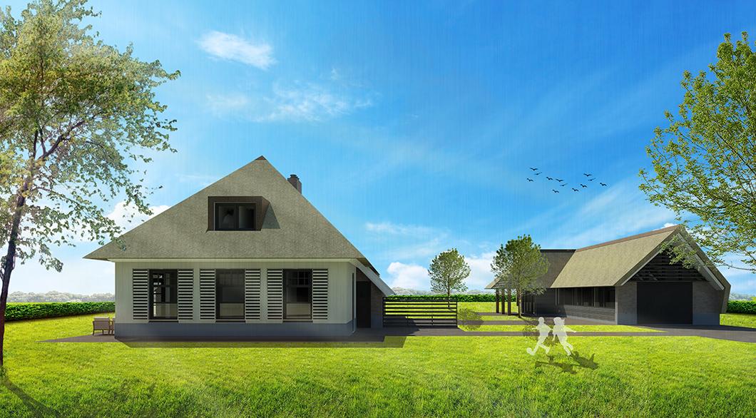 Hedendaagse woonboerderij  schuur  ArchitectenGilde uw