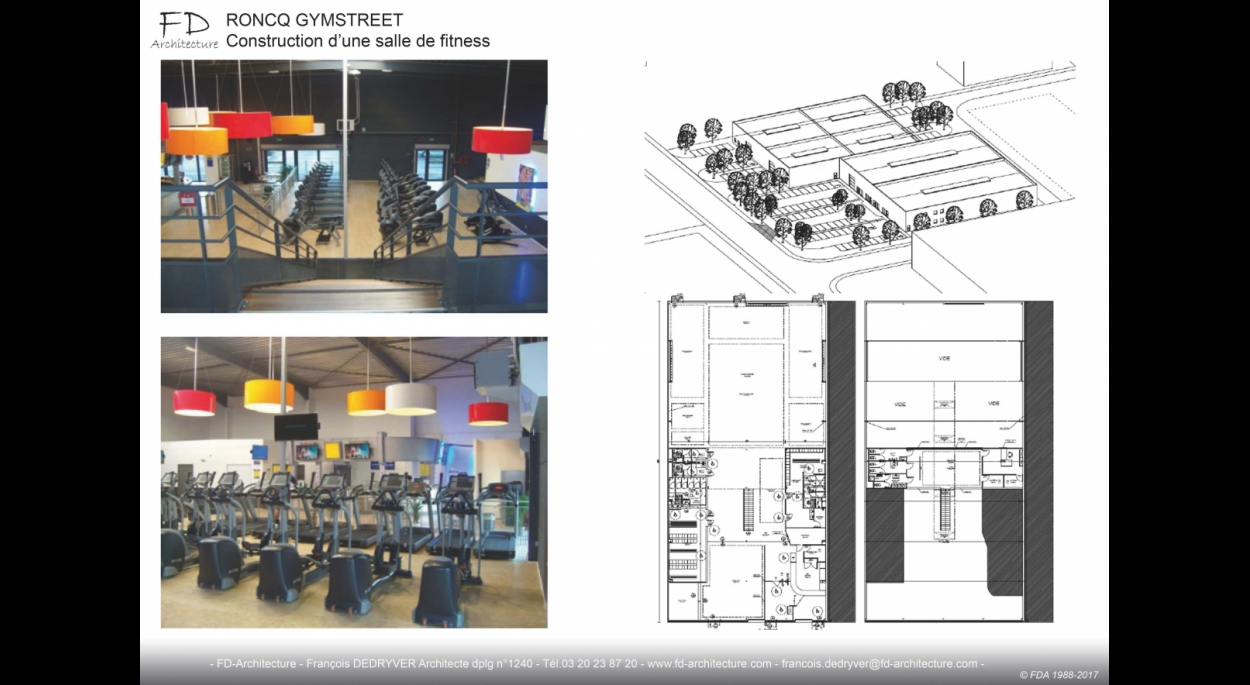 construction d une salle de fitness